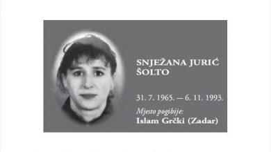 """Photo of U sjećanje na Snježanu Jurić Šolto – jedina žena poginula kao pripadnica 4. gardijske brigade """"Pauci"""""""