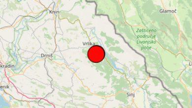 Photo of Prema podacima Seizmološke službe HR potres je bio kod Vrlike – iznosio 3.4 prema Richteru