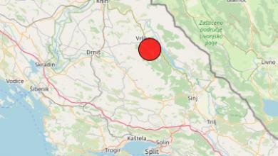 Photo of Jutros potres – epicentar kod Peručkog jezera